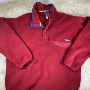 Patagonia NWOT Red Synchilla Pullover Sweater L